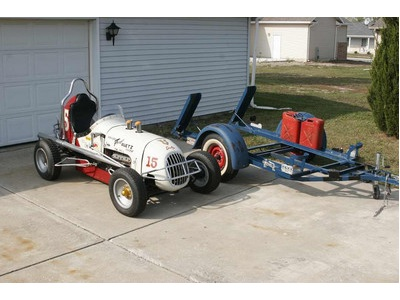 Antique Association Auto Daytona Racing on 1947 Midget   Burbank Trailer   Vintage And Classic Cars Classifieds