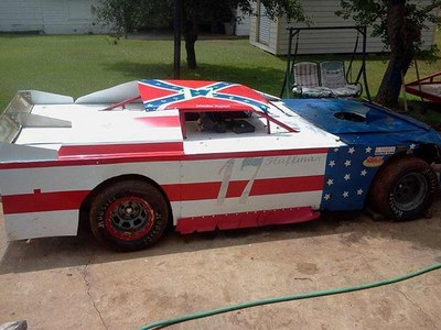 Late Model Dirt Track Race Car